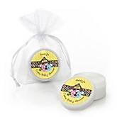 Twin Puppy Dogs 1 Boy & 1 Girl - Personalized Baby Shower Lip Balm Favors