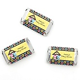Twin Puppy Dogs 1 Boy & 1 Girl - Personalized Baby Shower Mini Candy Bar Wrapper Favors - 20 ct