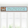Twin Modern Babies 1 Boy & 1 Girl African American - Personalized Baby Shower Banners