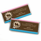 Twin Baby Carriages 1 Boy & 1 Girl - Personalized Baby Shower Candy Bar Wrapper