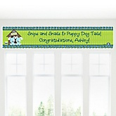 Twin Boy Puppy Dogs - Personalized Baby Shower Banner