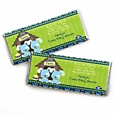 Twin Boy Puppy Dogs - Personalized Baby Shower Candy Bar Wrapper