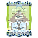 A baby shower for twins twin boy puppy dogs personalized baby shower vellum overlay invitations filmwisefo Image collections