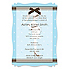 Mommy Silhouette It's Twin Boys - Personalized Baby Shower Vellum Overlay Invitations
