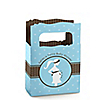 Mommy Silhouette It's Twin Boys - Personalized Baby Shower Mini Favor Boxes
