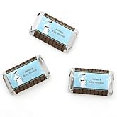 Mommy Silhouette It's Twin Boys - Personalized Baby Shower Mini Candy Bar Wrapper Favors - 20 ct