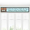 Twin Modern Baby Boys African American - Personalized Baby Shower Banners
