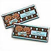 Twin Modern Baby Boys African American - Personalized Baby Shower Candy Bar Wrapper Favors