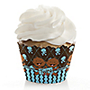 Twin Modern Baby Boys African American - Baby Shower Cupcake Wrappers