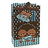 Twin Modern Baby Boys African American - Personalized Baby Shower Favor Boxes