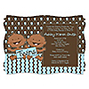 Twin Modern Baby Boys African American - Personalized Baby Shower Invitations