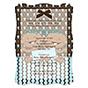 Twin Modern Baby Boys African American - Personalized Baby Shower Vellum Overlay Invitations