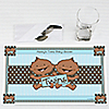 Twin Modern Baby Boys African American - Personalized Baby Shower Placemats