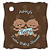 Twin Modern Baby Boys African American  - Personalized Baby Shower Tags - 20 ct