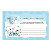 Twin Baby Boys - Baby Shower Helpful Hint Advice Cards Game - 18 Count