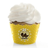 Twin Neutral Baby Carriages - Baby Shower Cupcake Wrappers