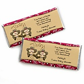 Twin Little Cowboys - Western Personalized Baby Shower Candy Bar Wrapper