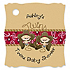 Twin Little Cowboys - Personalized Baby Shower Tags - 20 ct