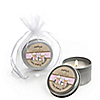 Twin Little Cowgirls - Personalized Baby Shower Candle Tin Favors