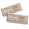 Twin Little Cowgirls - Personalized Baby Shower Candy Bar Wrapper Favors
