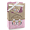 Twin Little Cowgirls - Personalized Baby Shower Favor Boxes