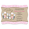 Twin Little Cowgirls - Personalized Baby Shower Invitations