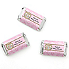 Twin Little Cowgirls - Personalized Baby Shower Mini Candy Bar Wrapper Favors - 20 ct