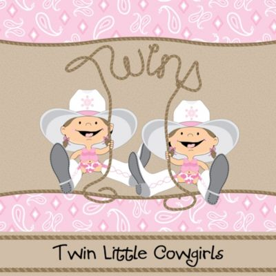 Twin Little Cowgirls   Western Baby Shower Theme