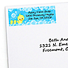 Twin Ducky Ducks - Personalized Baby Shower Return Address Labels - 30 ct