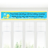 Twin Ducky Ducks - Personalized Baby Shower Banner