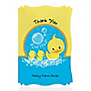 Twin Ducky Ducks - Personalized Baby Shower Thank You Cards