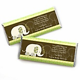 Twin Baby Elephants - Personalized Baby Shower Candy Bar Wrapper