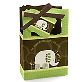 Twin Baby Elephants - Personalized Baby Shower Favor Boxes