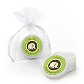 Twin Baby Elephants - Lip Balm Personalized Baby Shower Favors