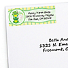 Twin Froggy Frogs - Personalized Baby Shower Return Address Labels - 30 ct