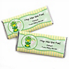 Twin Froggy Frogs - Personalized Baby Shower Candy Bar Wrapper Favors