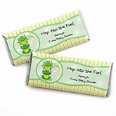 Twin Froggy Frogs - Personalized Baby Shower Candy Bar Wrapper