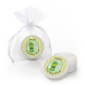Twin Froggy Frogs - Lip Balm Personalized Baby Shower Favors