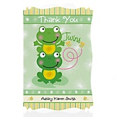 Twin Froggy Frogs - Personalized Baby Shower Thank You Cards