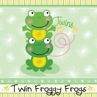 twin froggy frogs baby shower theme