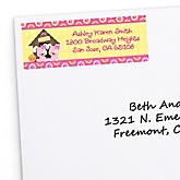 Twin Girl Puppy Dogs - Personalized Baby Shower Return Address Labels - 30 ct