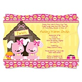 Twin Girl Puppy Dogs - Personalized Baby Shower Invitations