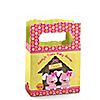 Twin Girl Puppy Dogs - Personalized Baby Shower Mini Favor Boxes