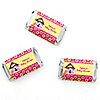 Twin Girl Puppy Dogs - Personalized Baby Shower Mini Candy Bar Wrapper Favors - 20 ct