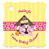 Twin Girl Puppy Dogs - Personalized Baby Shower Tags - 20 ct