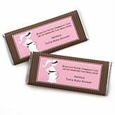 Mommy Silhouette It's Twin Girls - Personalized Baby Shower Candy Bar Wrapper