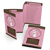 Mommy Silhouette It's Twin Girls - Fabulous 5 Personalized Baby Shower Games