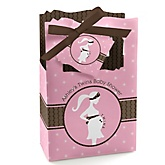 Mommy Silhouette It's Twin Girls  - Personalized Baby Shower Favor Boxes