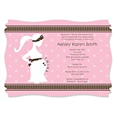 Mommy Silhouette It's Twin Girls - Baby Shower Invitations