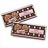 Twin Modern Baby Girls African American - Personalized Baby Shower Candy Bar Wrapper Favors